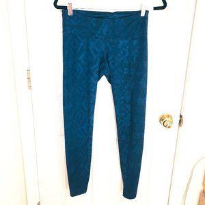 Old Navy Active Blue Ikat Pattern Leggings Medium